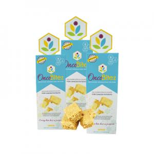 OncoBitez nutraceutical meal bites for cancer patients. Oncologist Designed-Oncologist Approved